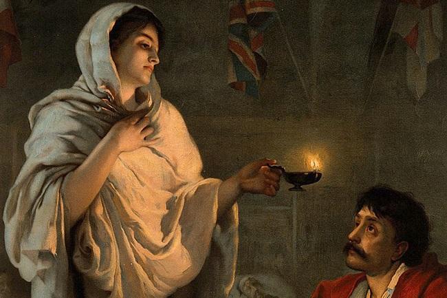 Câu chuyện người phụ nữ và cây đèn