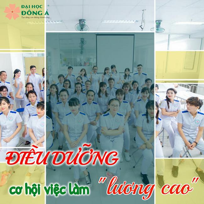 Cơ hội việc làm ngành điều dưỡng cho sinh viên Đông Á