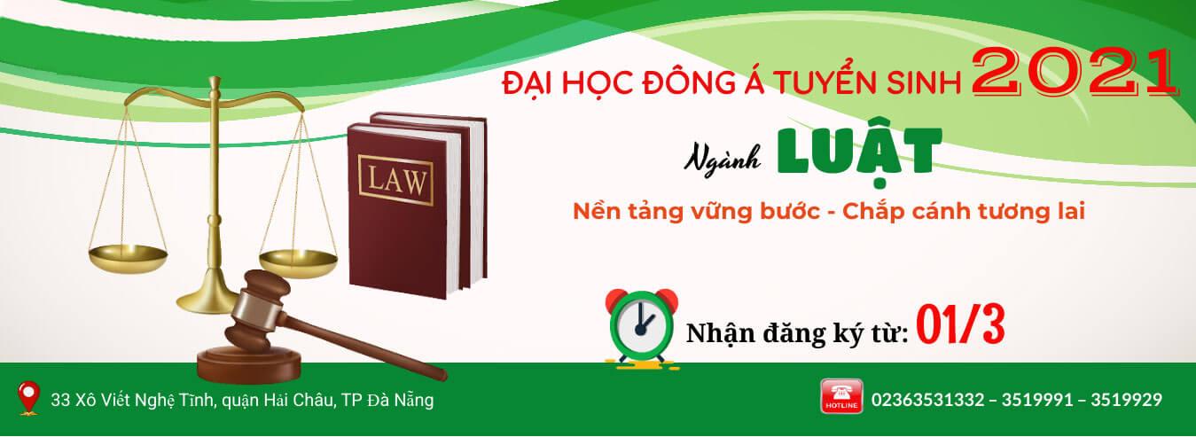 Banner tuyển sinh ngành Luật