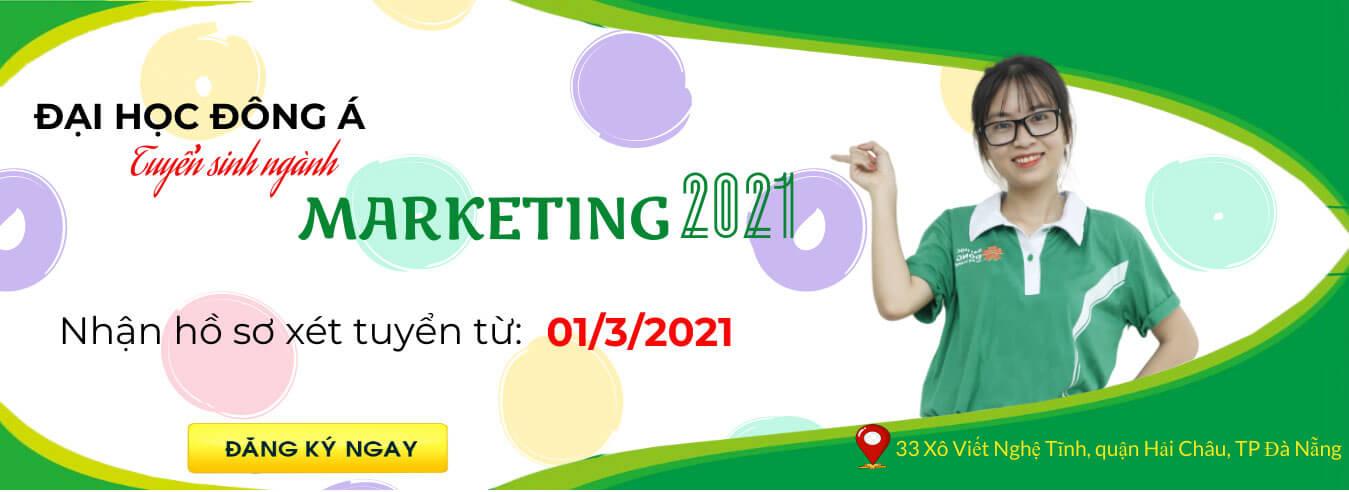 Banner tuyển sinh ngành marketing