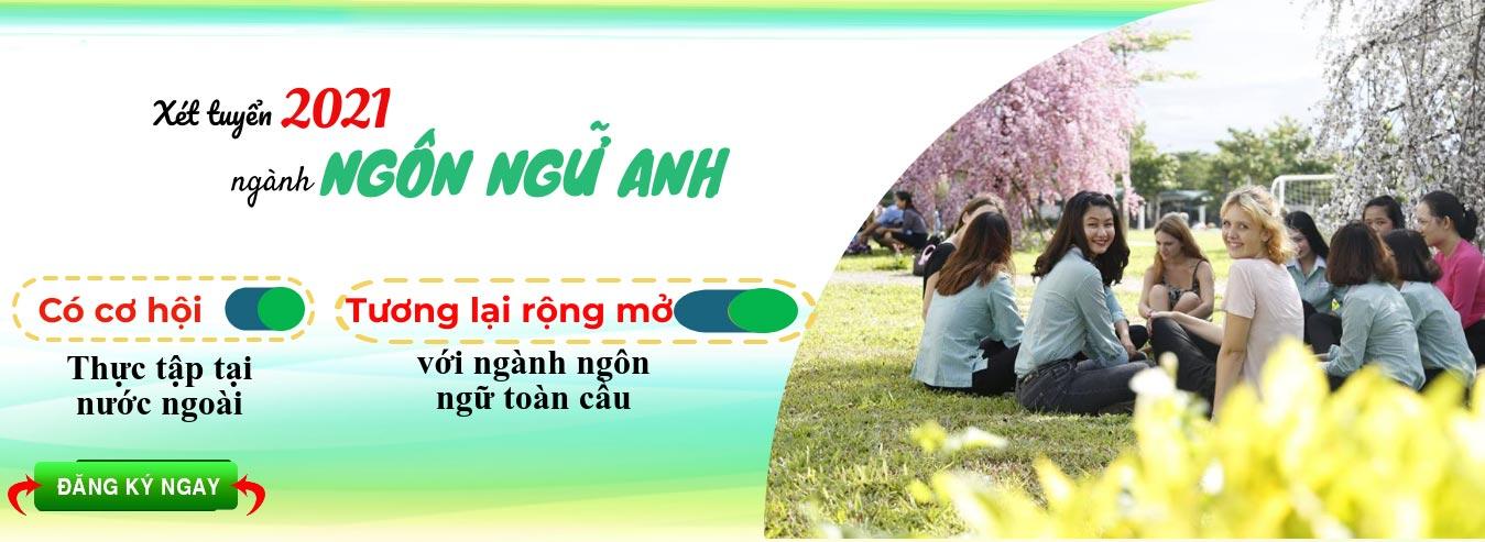 Banner tuyển sinh ngành ngôn ngữ Anh