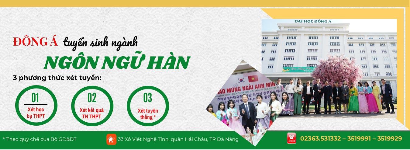 Banner tuyển sinh ngành ngôn ngữ Hàn