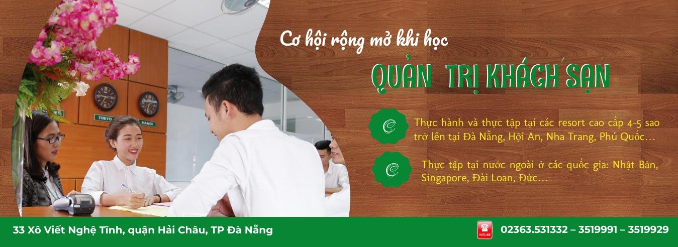 Banner tuyển sinh ngành quản trị khách sạn