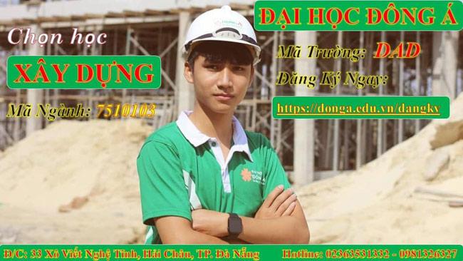 Trường đại học Đông Á đào tạo ngành kỹ thuật xây dựng
