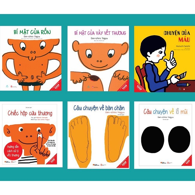 5 Cuốn sách Ehon khoa học cơ thể người và Picture Books song ngữ