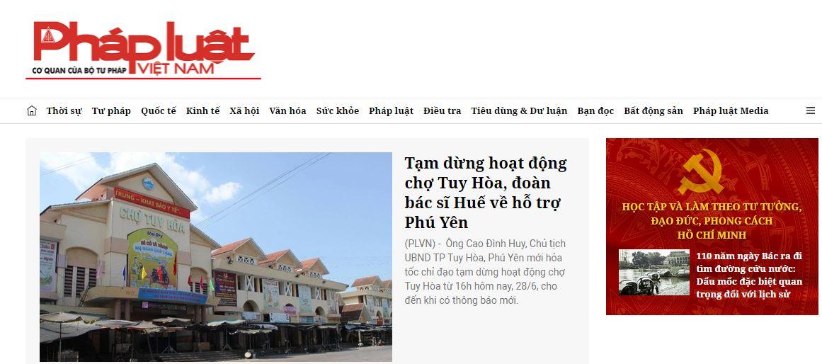 Trang web về luật phổ biến nhất hiện nay - Báo pháp luật Việt Nam điện tử